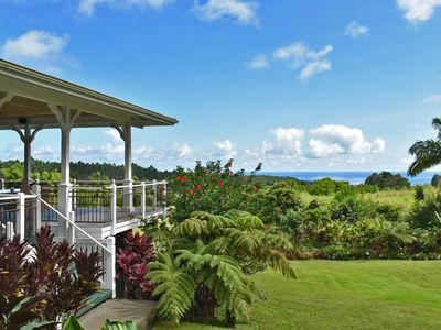 Photo for Idyllic 20-acre, ocean-view estate with streams, waterfalls, groves and gardens.