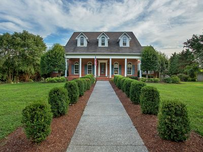 Photo for NEW LISTING! Meticulously-maintained estate on 11 private acres w/pool & trails