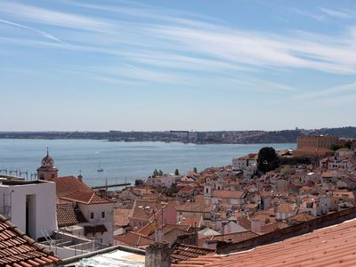 Photo for Alfama Apartment with great view over river Tagus