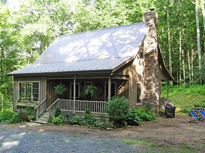 Photo for Valle Crucis Cabin in the woods! Private but central location - see our reviews!