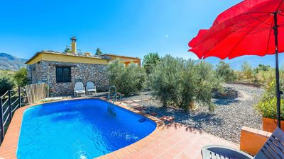 Photo for Pretty holiday villa with outdoor stone wall in Orgiva