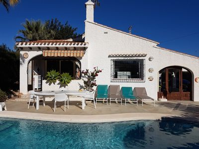 Photo for Calpe: typical Spanish villa in residential area close to beach closed garden