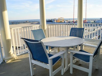 Photo for Oceanfront on Boardwalk - Corner Unit Overlooking All the Action - Rooftop Pool!