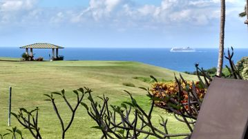 Walk to Anini from Beautiful Ocean View End Unit on Princeville Golf Course