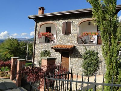 Photo for Beautiful village house, pool. Walk to restaurant. WIFI. Flexible changeover.