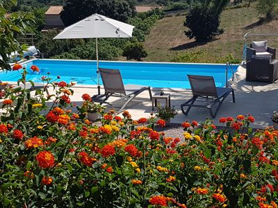 Photo for AFa Corse Ground floor of a quiet villa with heated pool