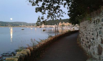 Harbour walk takes you from Conwy to Conwy marina superb array of boats and view