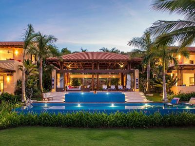 Photo for Luxury Three-Acre Estate on Private Beach with Lush Gardens and Staff of Five