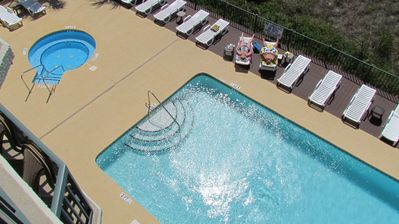 Pool and Hot Tub from Balcony