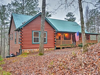 Photo for Authentic Creekside 4BR Ellijay Log Cabin w/Decks!
