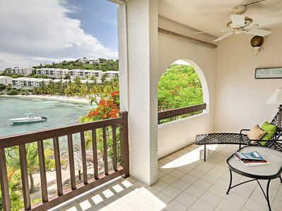 Photo for NEW! Beachfront St Thomas Resort Condo w/ Bay View