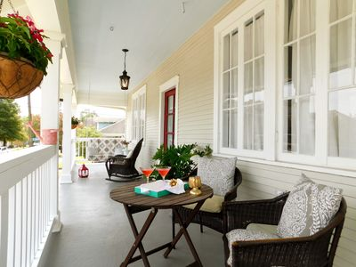 grand front porch with swing and rocker