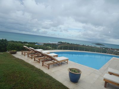 Photo for Magnificent ocean view villa. Three suites in gated community