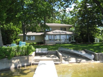 Photo for Large Home on Lake with Great Lake and Sunset Views