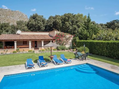Photo for Peaceful villa in the mountains w/ air con, pool + shaded dining terrace