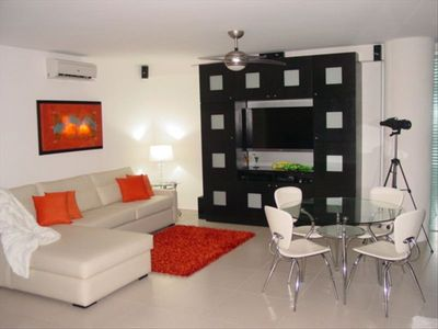TV Rm incl. Queen PullOut Sleeper,Chaise, Game Table, Flat Screen TV, Ocean View