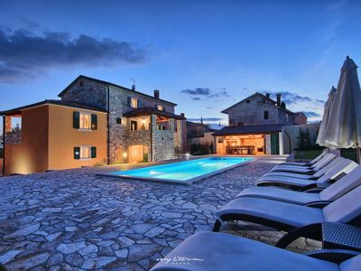 Photo for Istrian stone villa with private pool near Porec