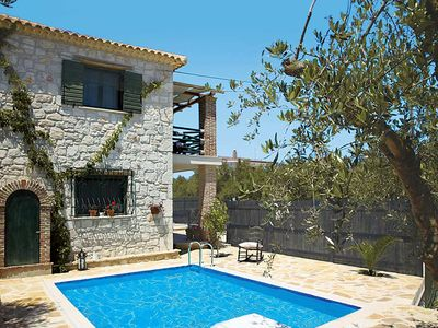 Photo for 2 bedroom Villa, sleeps 4 in Ano Vasilikos with Pool, Air Con and WiFi