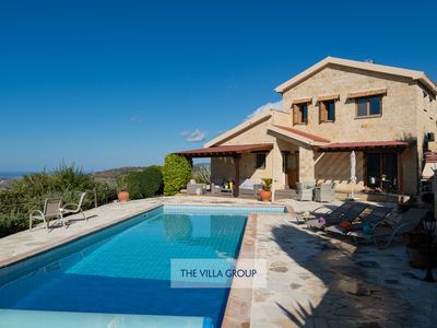 Photo for 3 bedroom stone-built villa located in a peaceful and hilltop area of Giolou