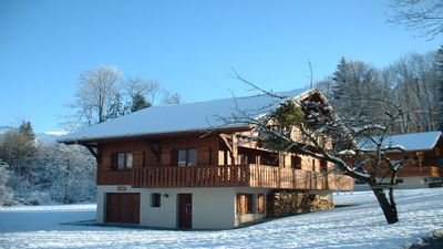 PEACEFUL - Quiet woodland location on the perimeter of Morillon Village.