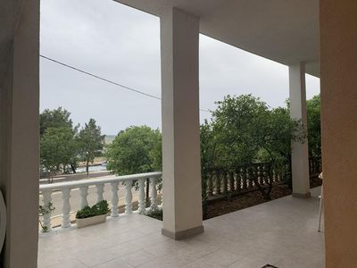 Photo for Two bedroom apartment with terrace and sea view Seline, Paklenica (A-17955-c)