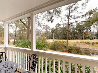 Photo for Lovely villa w/ shared pool, hot tub, golf course view & a beach nearby!
