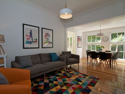 Photo for Impressive 4 bedroom house in heart of North Hobart. WIFI, Netflix.
