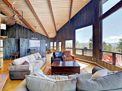 Photo for New Listing! Mountain-View Stunner w/ Private Hot Tub, Large Deck & Grill