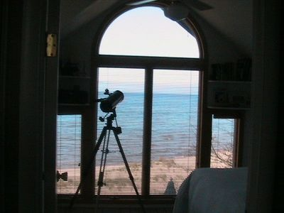 View from the master bedroom: just the sand and waves as far as the eye can see.