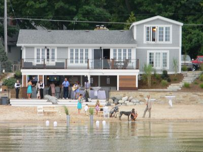 Photo for Beautiful and quaint waterfront home with amazing beachfront entertainment area!