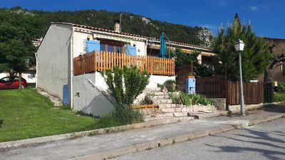Photo for Provencal house with terrace Gorges du Verdon overlooking Lake Ste Croix