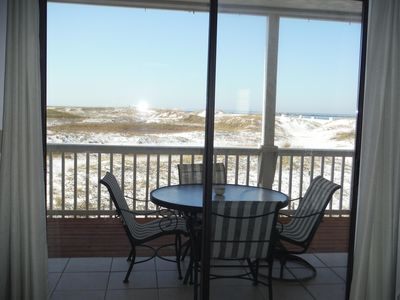 Photo for Quiet beachfront condo on Holiday Isle