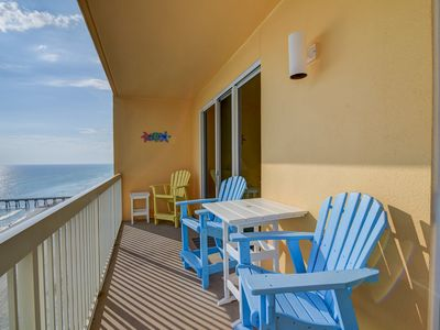 Photo for Beachy, waterfront getaway w/ a furnished balcony, shared pools, & gym