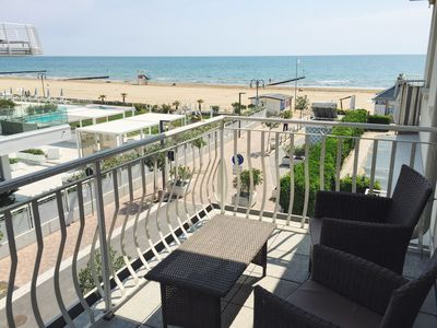 Photo for Lido di Jesolo apartment  - FACING THE SEA with PRIVATE BEACH (just renovated)