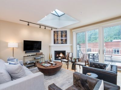 Photo for Impeccably Decorated & Newly Updated. Steps from Main St with Private Hot Tub & Views.