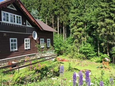 Photo for Holiday house With bathing possibility, playground and beautiful view of the woods
