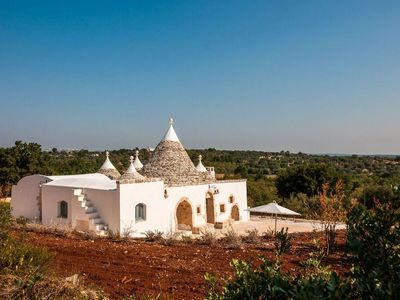 Photo for Luxury trulli with very panoramic terraces and a great Pool