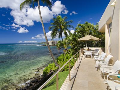 Photo for Hale Ma'ana Hou - Best Value 5BR Oceanfront Home in Poipu with Pool and A/C!
