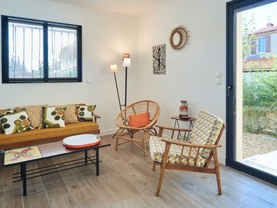 Photo for Vintage retro guest apartment between land and sea