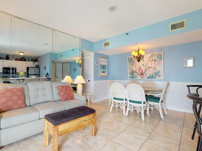 Photo for NEW! Beach condo w/Gulf view, pool, hot tub, sports courts at Plantation Palms