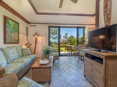 Photo for Tropical Ground Floor Suite w/Lanai, Kitchen Ease, WiFi–Kiahuna Plantation #2070