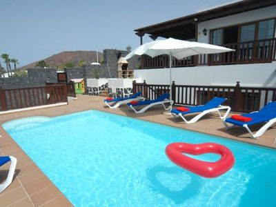 Photo for Spacious Villa, Sea Views,Childrens Play Area,Hot Tub,Heated Pool, Ping Pong,Arcade Machine-Lobos 22