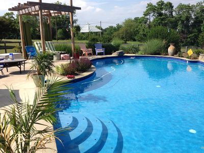 Come enjoy the pool  - stays open late in the season