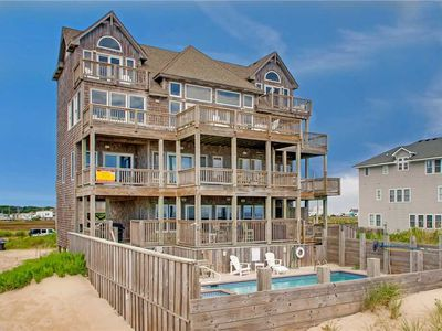 Photo for Walk Right onto Beach! Amenity-filled Oceanfront, Rodanthe- Pool, Theater & More