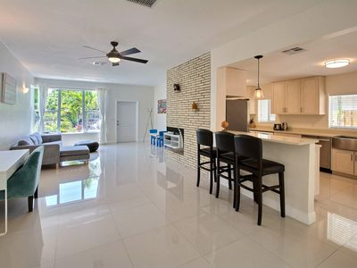 Photo for 30 second walk to beach! LARGE, AMAZING YARD. LAUDERDALE BEACH home. 2 bd/2 ba