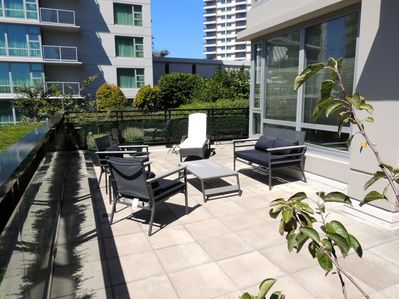Large, sunny outdoor terrace for easy living in the summer months