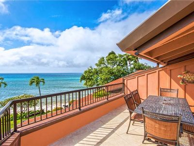 Photo for KUL104 - West Maui Beach Front, Stunning Loft Condo with Stunning Ocean View—2BR/2BA