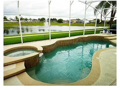 Photo for Very Large 3 Bed. 3 Miles to Disney, large Pool/Spa, water view, games room