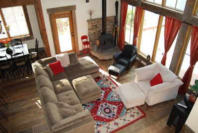 Cozy Living Room with Wood Burning Stove & Amazing River View