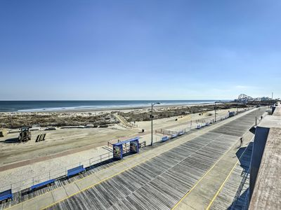 Photo for Oceanfront Penthouse w/ Large Deck - On Boardwalk!